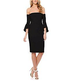 Laundry by Shelli Segal® Crepe Short Dress With Sleeves