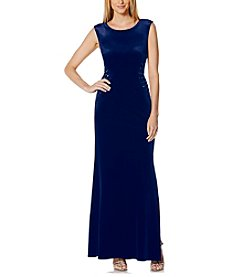 Laundry by Shelli Segal® Stretch Velvet Long Gown