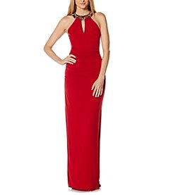 Laundry by Shelli Segal® Beaded Neck Band Gown