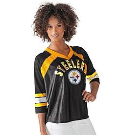 G III NFL® Pittsburgh Steelers Women's Blitz Jersey Tee