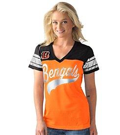 G III NFL® Cincinnati Bengals Women's Pass Rush Mesh Tee