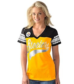 G III NFL® Pittsburgh Steelers Women's Pass Rush Mesh Tee