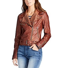 William Rast® Kate Faux Leather Studded Moto Jacket