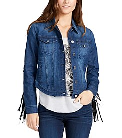 William Rast® Sussex Denim Jacket With Fringe