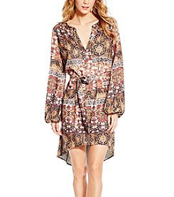 Jessica Simpson Jaelyn Printed Peasant Dress