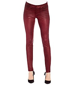 Jessica Simpson Kiss Me Coated Faux Suede Skinny Jeans