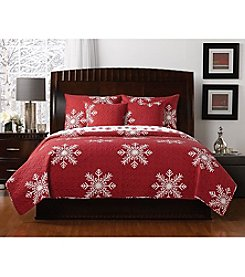 LivingQuarters New Haven Snowflake Quilt Collection