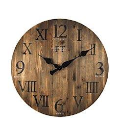 FirsTime Rustic Barn Wood Wall Clock