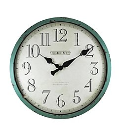 FirsTime Aged Teal Bellamy Wall Clock
