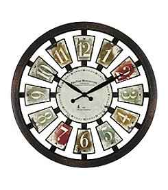 FirsTime Palette Plaques Wall Clock