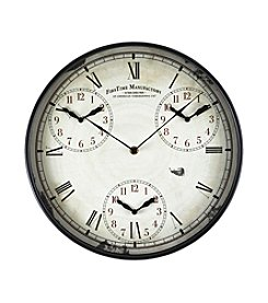 FirsTime Worldwide Time Zone Wall Clock