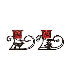 The Pomeroy Collection Set of 2 Sleigh Votive Holders