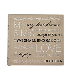 MKT@Home Mr. & Mrs. Sentiment 160-Pocket Album