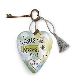 DEMDACO® Jesus Knows Me Art Heart