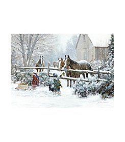 LPG Greetings Horses With Children Holiday Cards