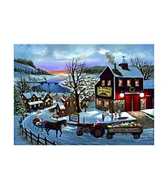 LPG Greetings Santa Tractor Holiday Cards