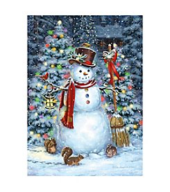 LPG Greetings Woodland Snowman Holiday Cards