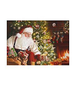 LPG Greetings Santa Fireplace Holiday Cards