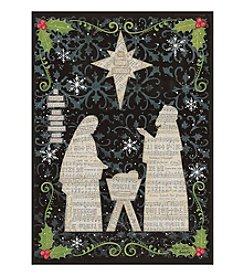 LPG Greetings Nativity With Music Notes Holiday Cards