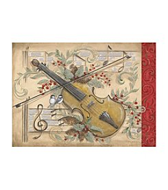 LPG Greetings Violin Holly Birds Holiday Cards
