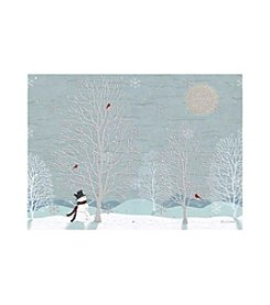 LPG Greetings Blue Snowman Scene Holiday Cards