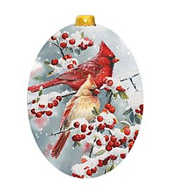 LPG Greetings Holly & Cardinals Ornament Cards