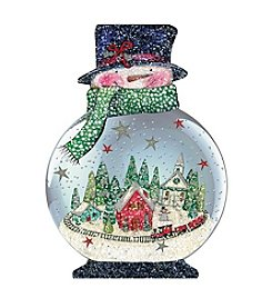 LPG Greetings Snowman Snowglobe Ornament Cards
