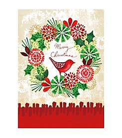 LPG Greetings Red Bird Christmas Holiday Cards With Keepsake Box