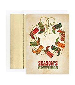 Masterpiece Boot Wreath Boxed Holiday Cards