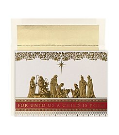 Masterpiece Manger Scene Boxed Holiday Cards