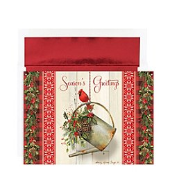 Masterpiece Garden Cardinal Boxed Holiday Cards