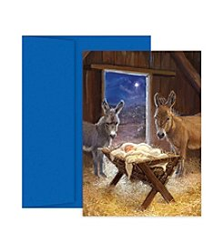 Masterpiece Jesus In Manger Boxed Holiday Cards
