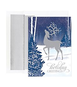 Masterpiece Prancing Deer Boxed Holiday Cards