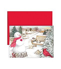 Masterpiece Country Snowman Boxed Holiday Cards