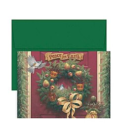 Masterpiece Peace On Earth Wreath Boxed Holiday Cards