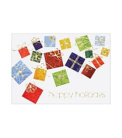 Masterpiece Floating Presents Boxed Holiday Cards