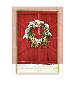 Masterpiece Barn Door With Wreath Boxed Holiday Cards