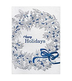 Masterpiece Silver Foil Wreath Boxed Holiday Cards