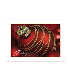 Masterpiece Glitter Ornament Boxed Holiday Cards