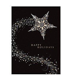 Masterpiece Gold & Silver Stars Boxed Holiday Cards