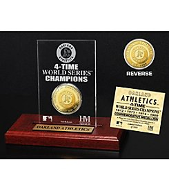 MLB® Oakland Athletics World Series Champions Gold Coin Etched Acrylic