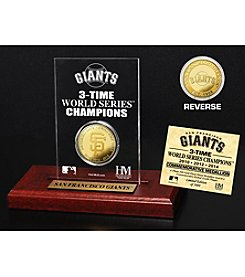 MLB® San Francisco Giants World Series Champions Gold Coin Etched Acrylic