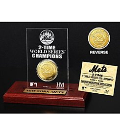 MLB® New York Mets World Series Champions Gold Coin Etched Acrylic