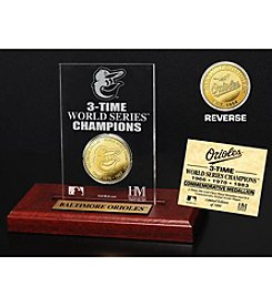 MLB® Baltimore Orioles World Series Champions Gold Coin Etched Acrylic