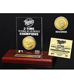 MLB® Minnesota Twins World Series Champions Gold Coin Etched Acrylic