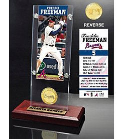 MLB® Atlanta Braves Freddie Freeman Ticket and Bronze Coin Acrylic Desktop