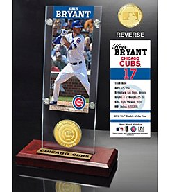 Highland Mint MLB® Chicago Cubs Kris Bryant Ticket and Bronze Coin Acrylic Desktop