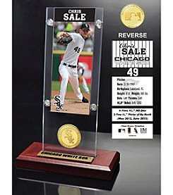 MLB® Chicago White Sox Chris Sale Ticket and Bronze Coin Acrylic Desktop
