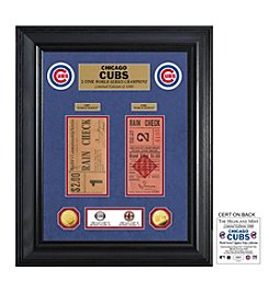 Highland Mint MLB® Chicago Cubs 1907-08 World Series Deluxe Gold Coin and Ticket Collection
