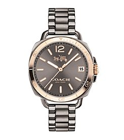 COACH TATUM IONIZED PLATED SUNRAY DIAL BRACELET WATCH